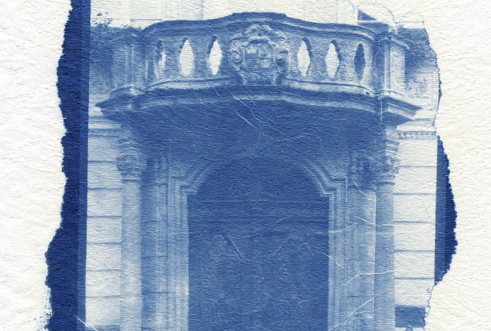 Cyanotype on unusual surfaces: wood, glass and metal